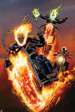 Ghost Riders: Heavens on Fire No.5 Cover: Ghost Rider Print by Greg Land
