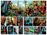 Secret Invasion No.1 Group: Iron Fist, Cage, Luke, Iron Man and Wonder Man Prints by Leinil Francis Yu