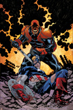 Captain America V4, No.32 Cover: Red Skull and Captain America Fighting Prints by Scot Eaton