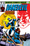 Daredevil No.160 Cover: Bullseye, Black Widow and Daredevil Charging Poster by Frank Miller