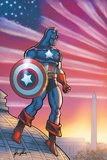Captain America Theater Of War: America First! No.1 Cover: Captain America Posters by Howard Chaykin