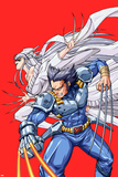 New Mangaverse No.2 Cover: Wolverine and Lady Deathstrike Fighting Poster by Tommy Ohtsuka