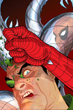 Doc Ock: Negative Exposure No.4 Cover: Doctor Octopus and Spider-Man Posters av Tony Harris
