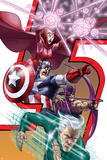 Avengers: Earths Mightest Heroes No.8 Cover: Quicksilver, Captain America and Scarlet Witch Prints by Scott Kolins