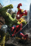 Marvel Adventures Iron Man Special Edition No.1 Cover: Iron Man, Hulk and Spider-Man Poster af Francisco Ruiz Velasco