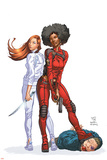 Daughters Of The Dragon No.1 Cover: Night, Misty, Wing, Colleen and NightWing Restorations Fighting Photo by Khari Evans