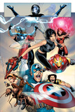 Ultimate Fantastic Four No.26 Group: Captain America, Wasp, Iron Man, Thor, Spider-Man and Ant-Man Posters by Greg Land