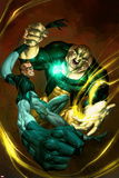 Ultimate Fantastic Four No.51 Cover: Mr. Fantastic and Thanos Prints