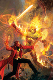 Strange No.6 Cover: Dr. Strange and Dormammu Fighting Plakáty