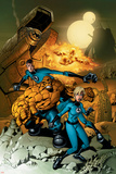 Fantastic Four No.523 Cover: Mr. Fantastic, Invisible Woman, Thing, Human Torch and Fantastic Four Print by Mike Wieringo