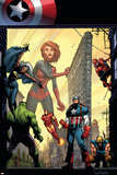 Marvel Adventures The Avengers No.29 Cover: Captain Marvel Prints by Sean Murphy