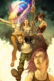 Runaways No.1 Cover: Dean, Karolina, Minoru, Nico, Hayes, Molly, Stein, Chase and Runaways Prints by Jo Chen