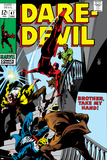 Daredevil No.47 Cover: Daredevil Swinging Prints by Gene Colan