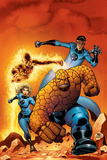 Fantastic Four No.509 Cover: Mr. Fantastic, Invisible Woman, Human Torch, Thing and Fantastic Four Prints by Mike Wieringo