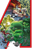 Avengers: Earths Mightiest Hero No.1 Cover: Hulk, Iron Man, Thor, Ant-Man, Wasp and Avengers Posters by Scott Kolins
