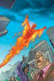 Human Torch No.10 Cover: Human Torch Poster by Joe Dodd