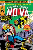 Nova: Origin Of Richard Rider - The Man Called Nova No.4 Cover: Nova and Thor Prints by Sal Buscema