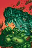 Marvel Age Hulk No.4 Cover: Hulk and Abomination Posters by John Barber