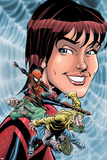Spider-Girl No.72 Cover: Spider-Girl, Parker and May Póster por Ron Frenz