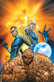 Fantastic Four No.553 Cover: Thing, Mr. Fantastic, Invisible Woman and Human Torch Crouching Fotografía por Michael Turner
