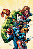 Marvel Adventures Avengers No.8 Cover: Captain America Affischer av Sean Chen