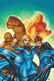 Marvel Adventures Fantastic Four No.48 Cover: Invisible Woman, Mr. Fantastic, Thing and Human Torch Photo by Roger Cruz
