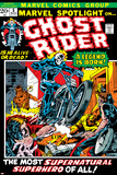 Marvel Spotlight Ghost Rider No.5 Cover: Ghost Rider Photographie par Mike Ploog