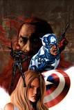 Captain America No.36 Cover: Captain America and Black Widow Posters by Steve Epting