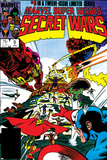 Secret Wars No.9 Cover: Captain America, Iron Man, Thor, Hulk and Galactus Prints by Mike Zeck