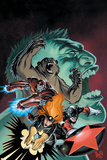 Hulk: Winter Guard No.1 Cover: Darkstar, Crimson Dynamo, Ursa Major, Red Guardian and Hulk Posters by Steve Ellis