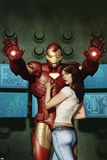 Iron Man No.5 Cover: Iron Man, Hansen and Maya Posters