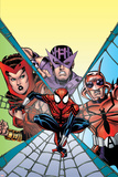 Spider-Girl No.94 Cover: Spider-Man, Hawkeye, Scarlet Witch and Ant-Man Poster by Ron Frenz