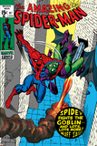 The Amazing Spider-Man No.97 Cover: Spider-Man and Green Goblin Posters av Gil Kane
