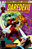 Daredevil No.162 Cover: Daredevil Fighting Poster por Steve Ditko