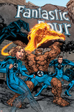 Marvel Adventures Fantastic Four No.1 Cover: Thing, Mr. Fantastic, Human Torch and Invisible Woman Pósters por Carlo Pagulayan