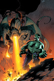 Incredible Hulk No.79 Cover: Hulk and Fin Fang Foom Flying Prints by Lee Weeks