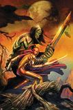 Skaar: Son Of Hulk Cover: Skaar and Omaka Posters by Ron Garney
