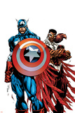 Captain America & The Falcon No.1 Cover: Captain America and Falcon Poster by Bart Sears
