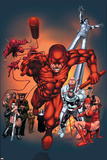 The Official Handbook Of The Marvel Universe: Daredevil 2004 Cover: Daredevil Posters by Salvador Larroca
