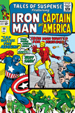 Tales Of Suspense No.60 Cover: Iron Man, Captain America, Hawkeye and Assasin Fighting Posters by Don Heck