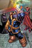 What If Newer Fantastic Four No.1 Group: Thanos, Death and Mephisto Posters by Patrick Scherberger