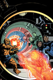 Marvel Adventures Fantastic Four No.25 Cover: Human Torch Posters by Paul Smith
