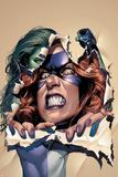 She-Hulk No.10 Cover: She-Hulk and Titania Print by Mike Mayhew