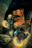 Ghost Riders: Heavens On Fire No.3 Cover: Ghost Rider Prints by Das Pastoras