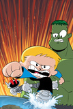 Franklin Richards: World Be Warned No.1 Cover: Richards, Franklin, Hulk and H.E.R.B.I.E. Poster by Chris Eliopoulos