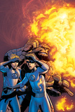 Fantastic Four No.519 Cover: Human Torch and Thing Print by Mike Wieringo