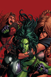 She-Hulk No.36 Cover: She-Hulk Plakater af Mike Deodato