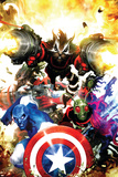 Guardians Of The Galaxy No.7 Cover: Rocket Raccoon, Major Victory and Bug Prints by Clint Langley
