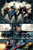 Amazing Spider-Man No.523 Group: Captain America, Luke Cage, Iron Man and Spider Woman Plakat af Mike Deodato