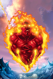 Human Torch No.11 Cover: Human Torch Posters by Howard Porter